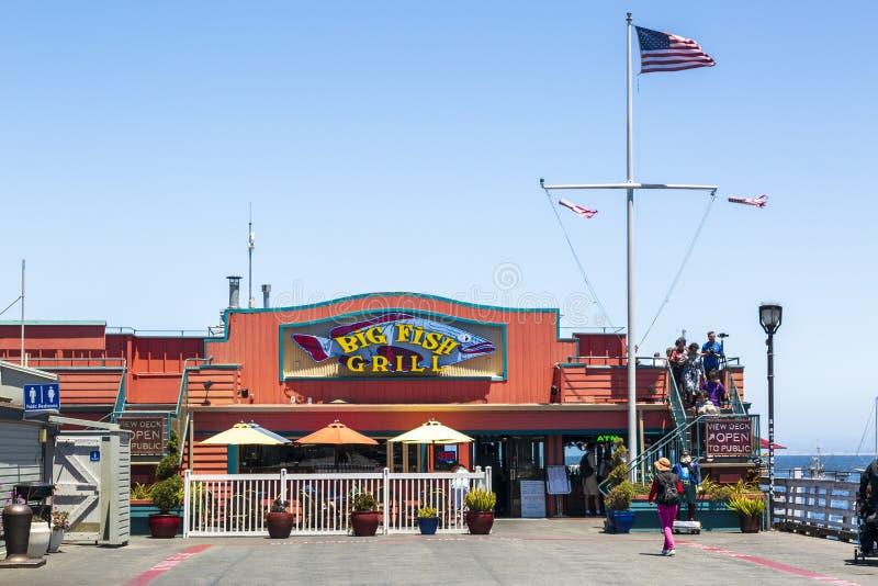 Il molo del pescatore, baia di Monterey, penisola, Monterey, oceano Pacifico, California, Stati Uniti d'America, Nord America immagini stock