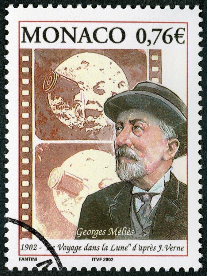 Il MONACO - 2002: manifestazioni Marie Georges Jean Melies 1861-1938, produttore cinematografico, un viaggio alla luna 1902 immagine stock