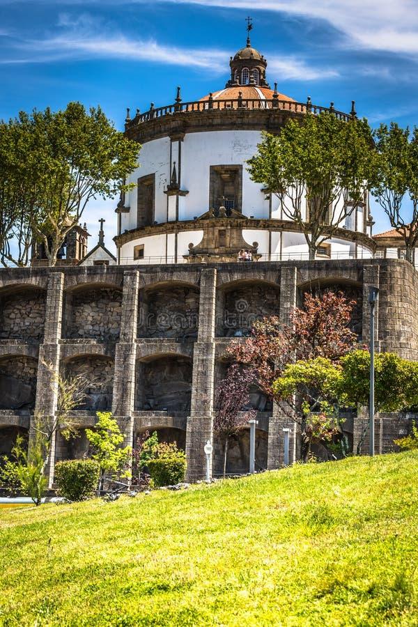 Il monastero da Serra fa Pilar in Vila Nova de Gaia, Portogallo immagini stock