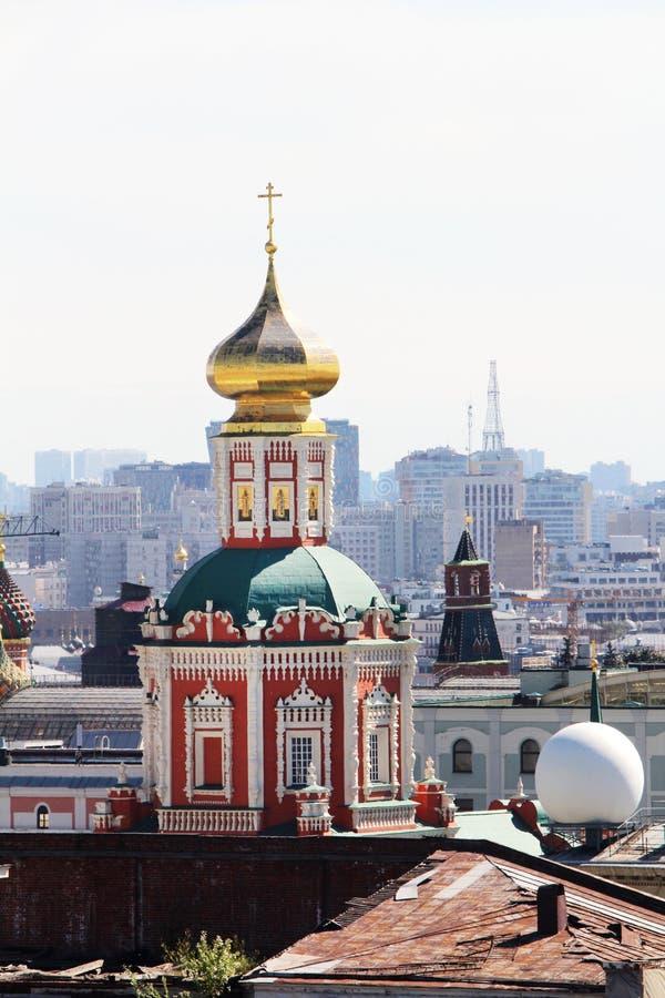 Il monastero del monastero santo di Zaikonospassky o di Mandylion, Mosca fotografia stock libera da diritti