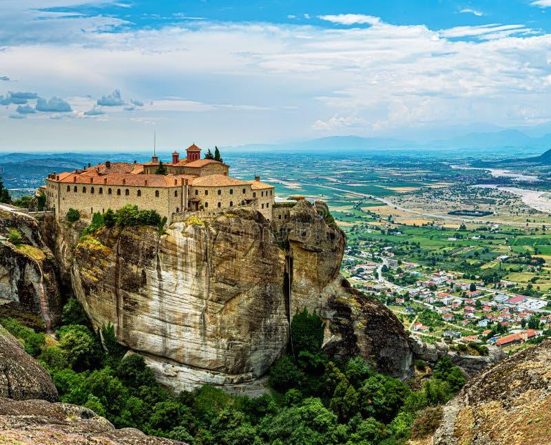 Il monastero di Santo Stefano è il più ricco dei monasteri di meteorite fotografia stock