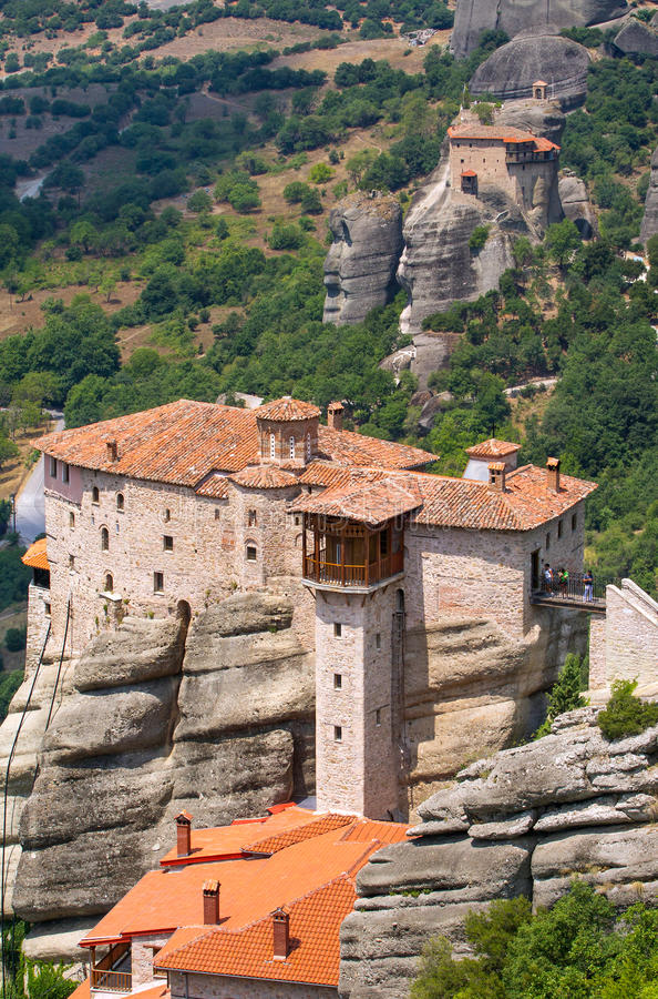 Il monastero santo di Rousanou immagini stock libere da diritti