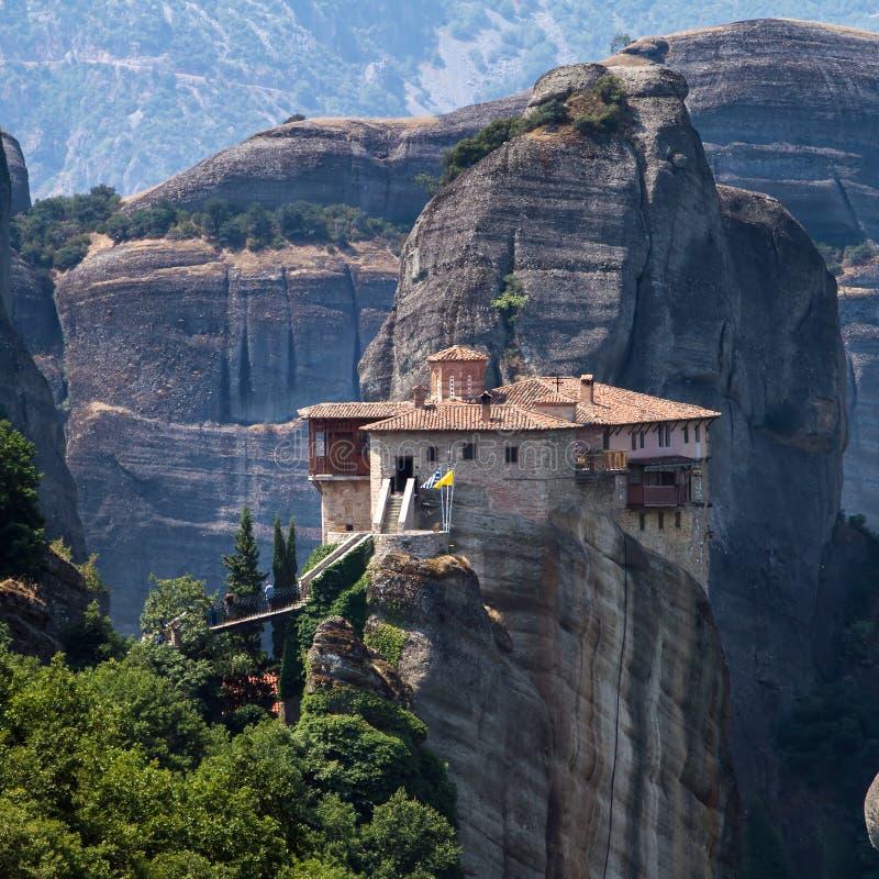 Il monastero santo di Rousanou fotografia stock libera da diritti