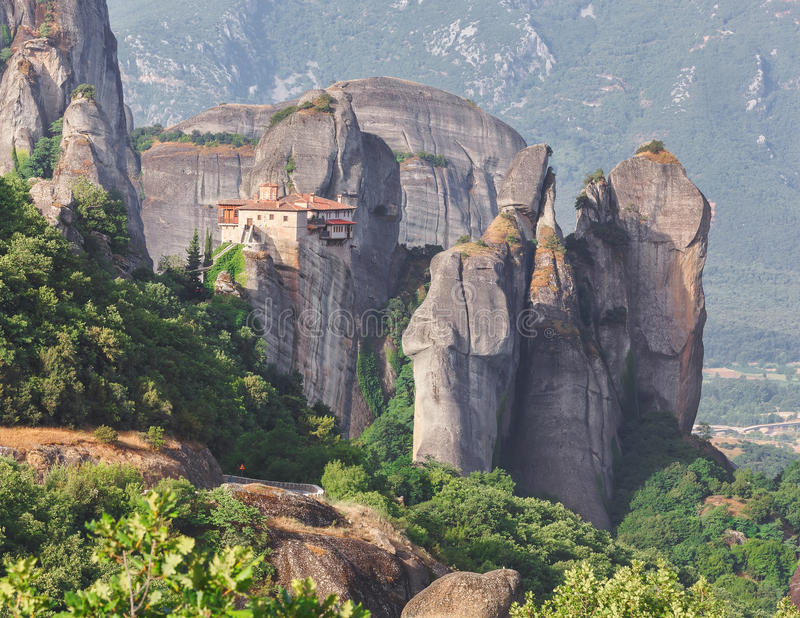 Il monastero santo di Rousanou fotografia stock