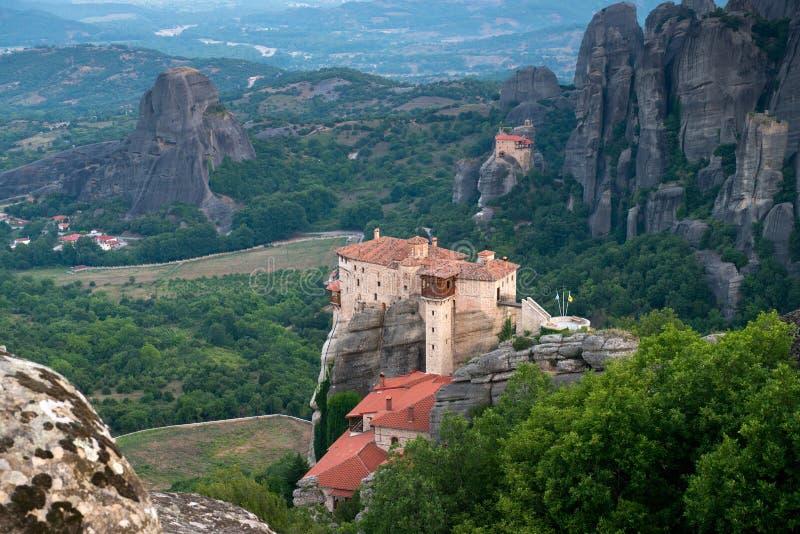 Il monastero santo di Rousanou/St Barbara fotografia stock libera da diritti