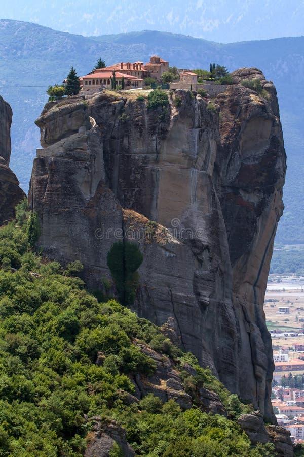 Il monastero santo di Rousanou (st Barbara) a Meteora fotografie stock libere da diritti