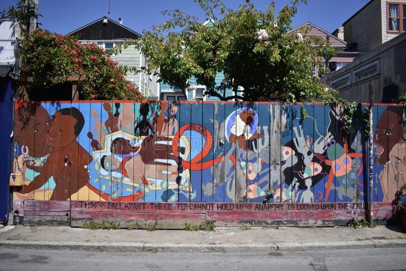 Il mondo del ` s di San Francisco ha riconosciuto i murali balsamici del vicolo, 34 immagine stock libera da diritti