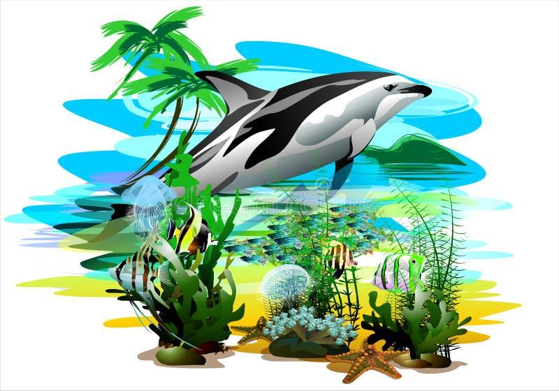 Il mondo subacqueo (Vettore) illustrazione di stock
