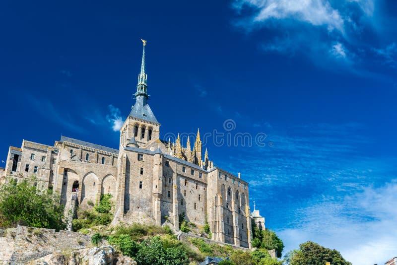 Il Mont-San-Michel, Francia immagine stock libera da diritti