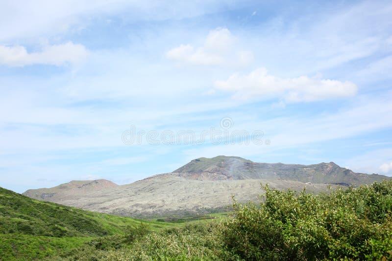 Il Monte Aso Kyushu, Giappone fotografia stock libera da diritti