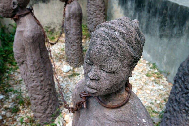 Il monumento degli schiavi ha dedicato alle vittime di schiavitù fotografie stock libere da diritti