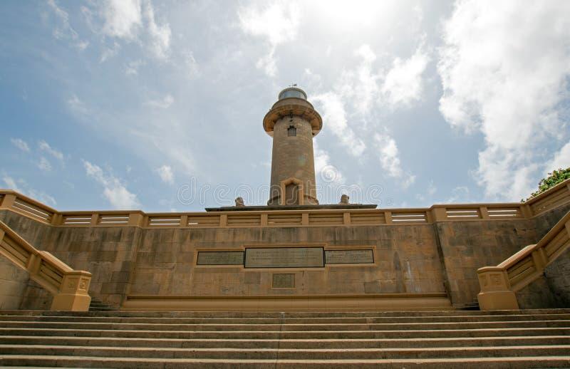 Il monumento del punto di riferimento del faro a Galle affronta in Colombo Sri Lanka fotografia stock