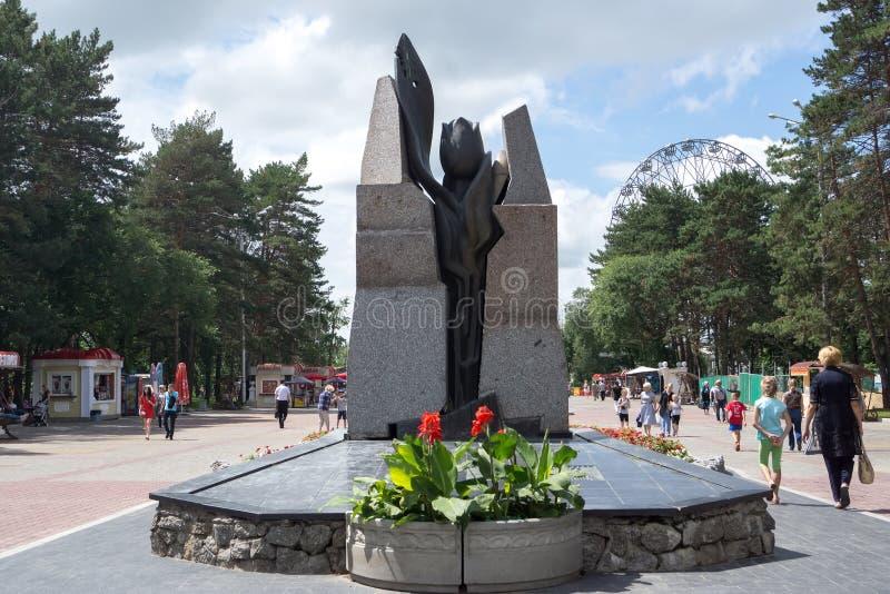 Il monumento del tulipano nero in memoria di quelli uccisi in immagini stock libere da diritti