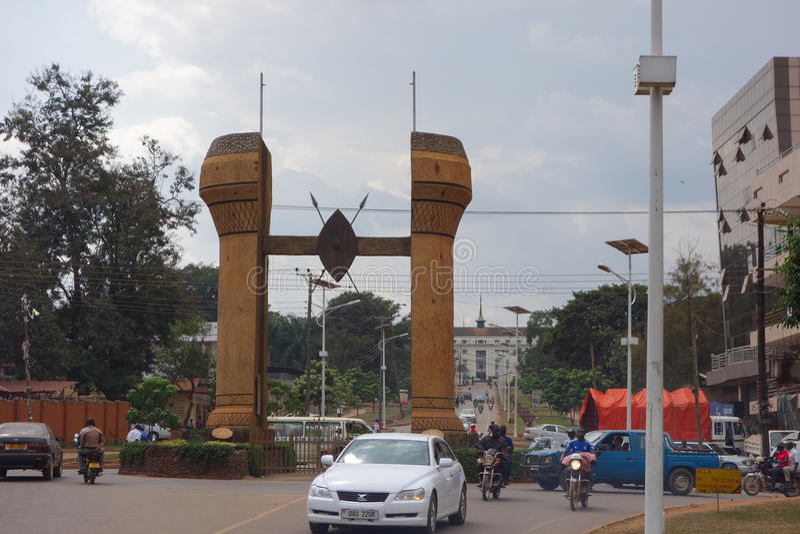 Il monumento di Buganda a Kampala fotografia stock libera da diritti