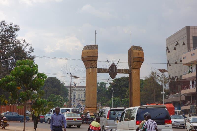 Il monumento di Buganda a Kampala immagini stock