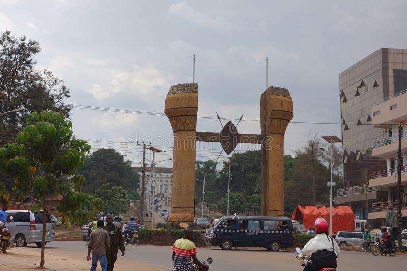 Il monumento di Buganda a Kampala immagine stock
