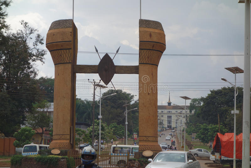 Il monumento di Buganda a Kampala immagine stock libera da diritti