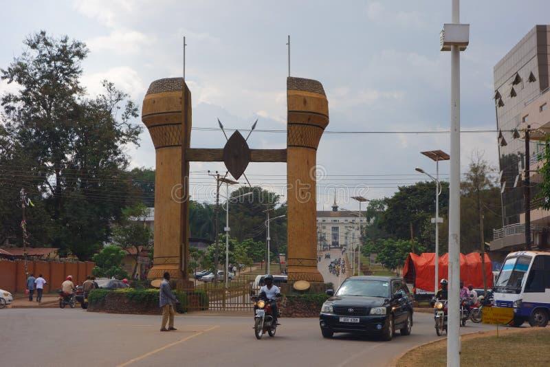 Il monumento di Buganda a Kampala immagini stock libere da diritti