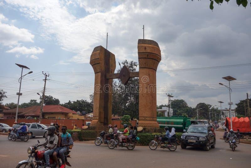 Il monumento di Buganda a Kampala fotografia stock