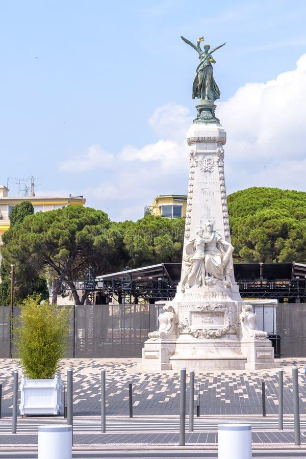 Il monumento di de Nice del ville della La shooted a luce del giorno fotografie stock