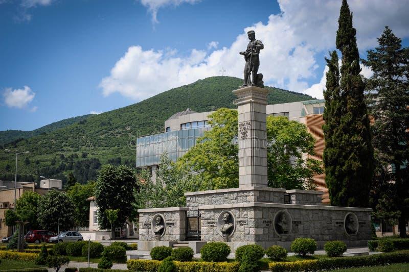 Il monumento di Hadzhi Dimitar in Sliven, Bulgaria fotografia stock libera da diritti