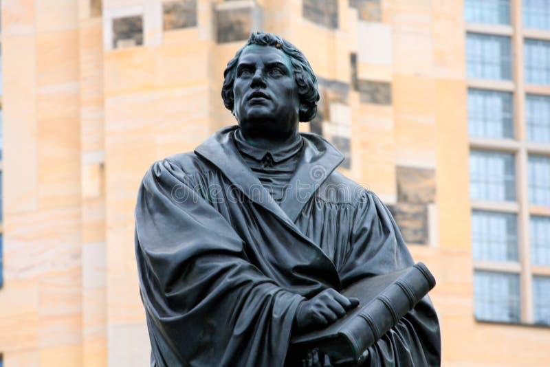 Il monumento di Martin Luther a Dresda Germania fotografie stock libere da diritti