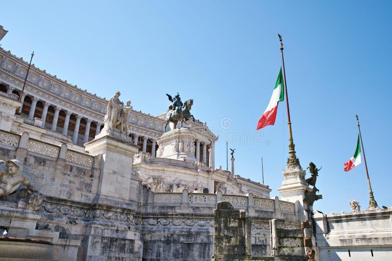 Il Monumento nazionale a Vittorio Emanuele II as Vittoriano stock photography