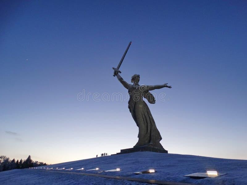 Il monumento principale di Volgograd fotografie stock libere da diritti