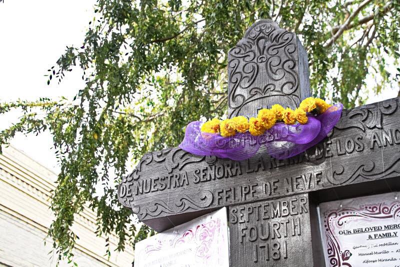 Il monumento storico dei ngeles del  di El Pueblo de Los à fotografia stock libera da diritti
