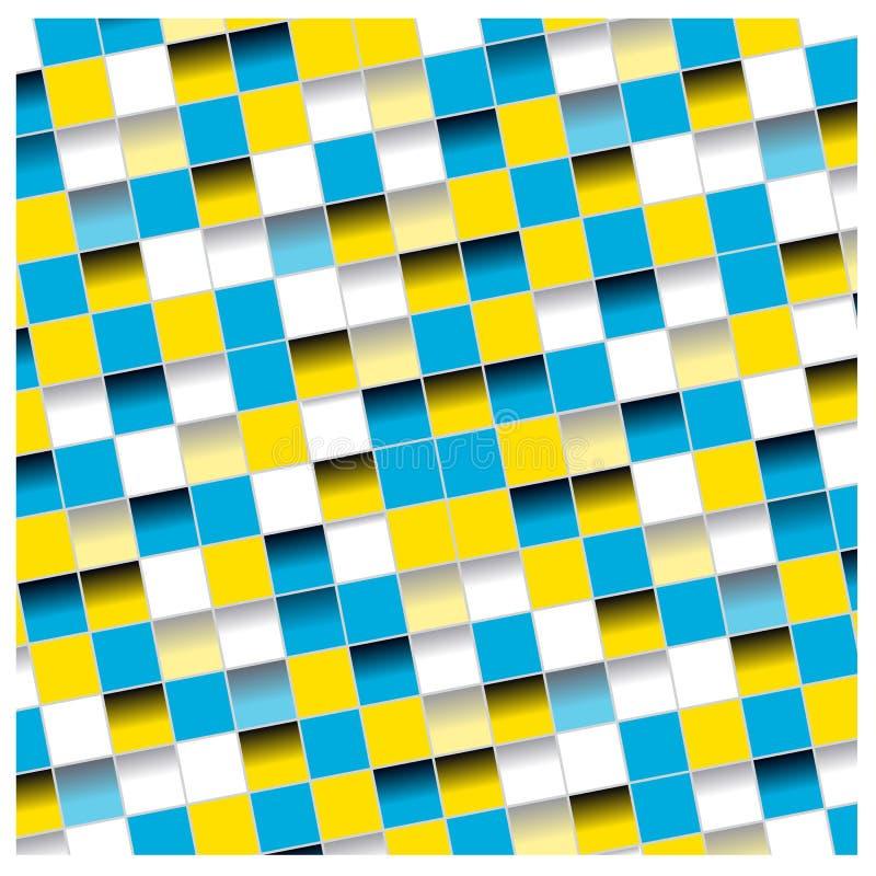 Il mosaico dimensionale di colore quadra il fondo royalty illustrazione gratis
