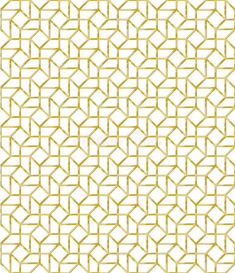 Il mosaico dorato del modello di vettore del profilo ha ispirato royalty illustrazione gratis