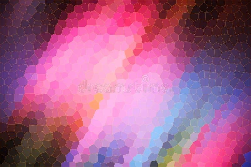 Il mosso rosa-blu astratto con cristallizza l'effetto, usa come i precedenti di un elemento illustrazione vettoriale