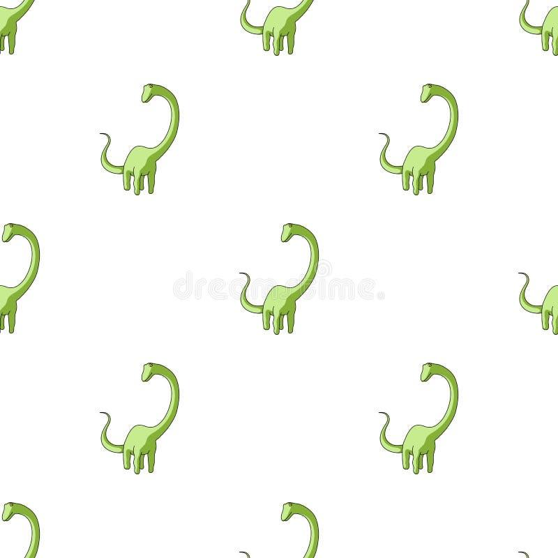 Il mostro sveglio scherza il mostro di logo Un dinosauro verde in un parco di divertimenti Jurassic Park Singola icona del parco  royalty illustrazione gratis
