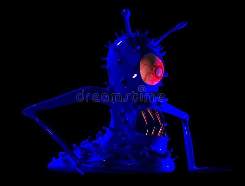 Il mostro un microbo, un virus. fotografia stock