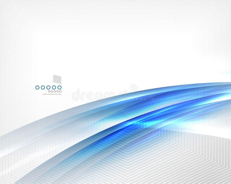Il moto blu della sfuocatura di vettore allinea il modello di affari illustrazione vettoriale