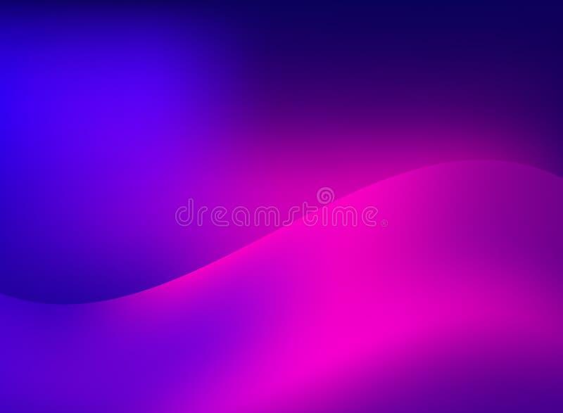 Il moto regolare astratto di fantasia ha offuscato la traccia leggera rosa dell'onda sopra illustrazione di stock