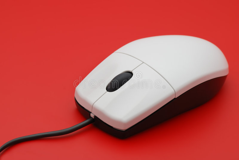 Il mouse del calcolatore immagini stock