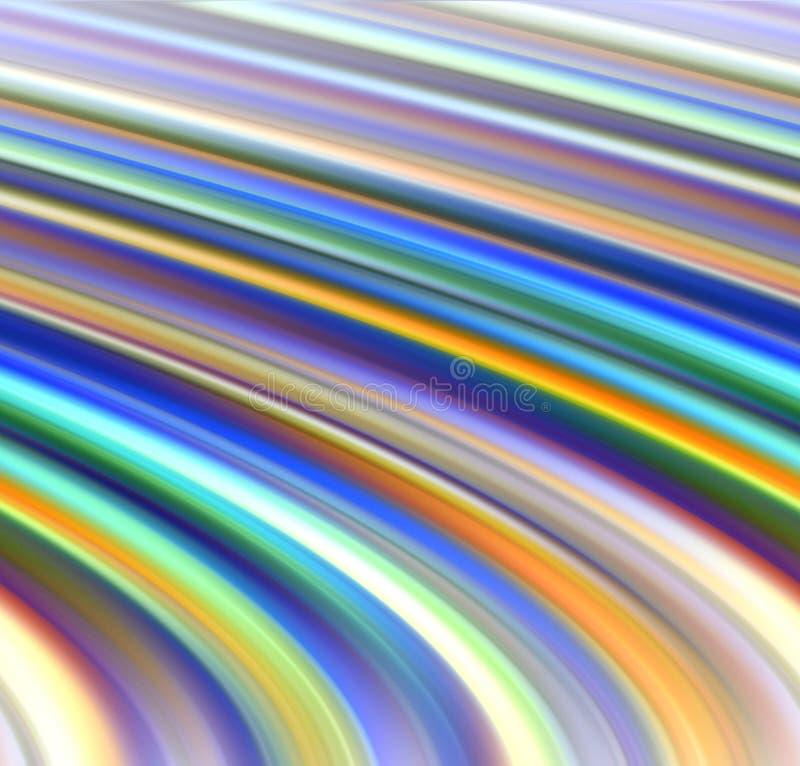 Il movimento allinea nelle tonalità variopinte, fondo astratto illustrazione vettoriale