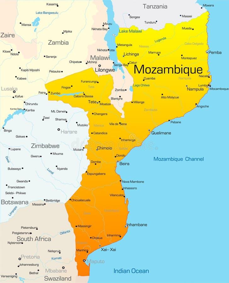 Il Mozambico Fotografia Stock