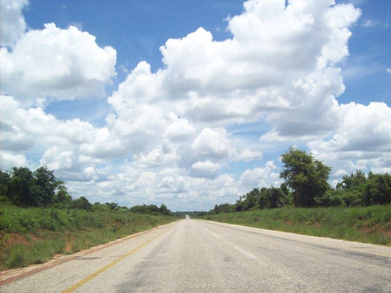 Il Mozambico subito dopo il bordo sudafricano fotografia stock