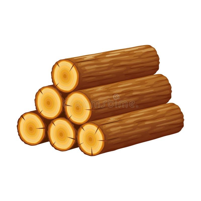 Il mucchio dei ceppi, pila di tronchi, cutted gli alberi, registrare illustrazione di stock