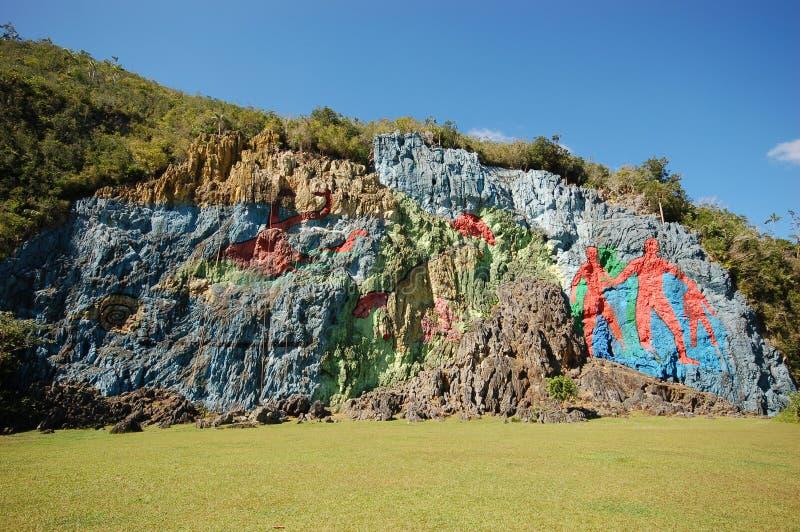 Il murale di preistoria immagine stock. Immagine di paese ...