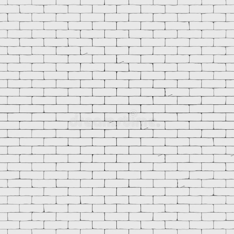 Il muro di mattoni bianco 3D rende illustrazione di stock