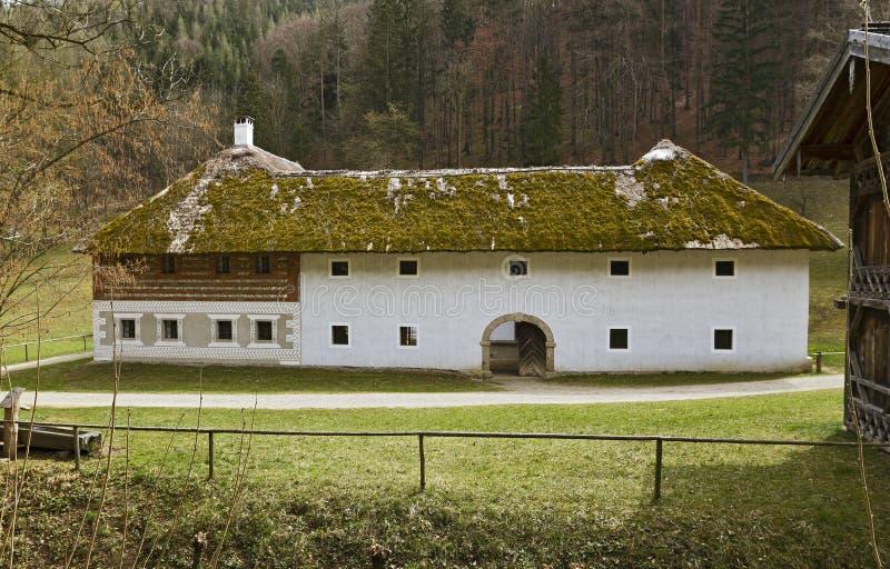 Il museo all'aperto austriaco Stuebing vicino a Graz fotografia stock