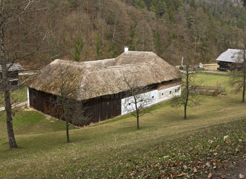 Il museo all'aperto austriaco Stuebing vicino a Graz fotografia stock libera da diritti