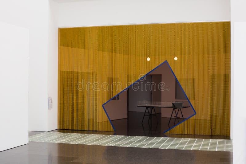 Il museo degli interni di arte moderna e delle esposizioni, Barcellona fotografia stock libera da diritti