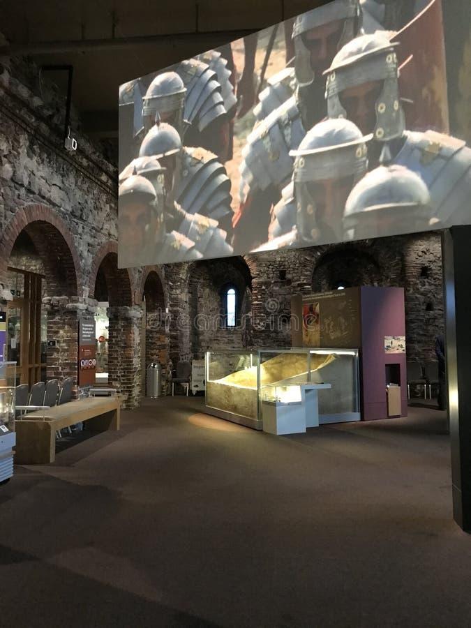 Il museo del castello di Colchester dice la storia di Roman Camelodunum, o Colchester, fotografia stock libera da diritti