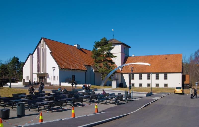 Il museo della nave del Vichingo. Oslo. La Norvegia fotografia stock libera da diritti