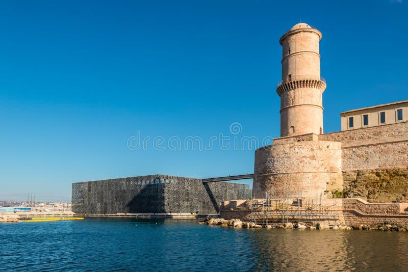 Il museo delle civilizzazioni europee e Mediterranee e della fortificazione fotografie stock libere da diritti