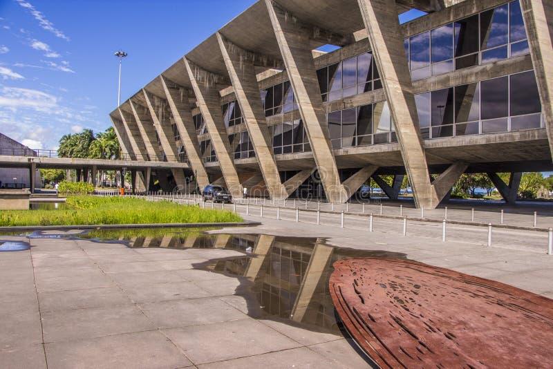 Il museo di arte moderna (MAM) - Rio de Janeiro immagini stock libere da diritti